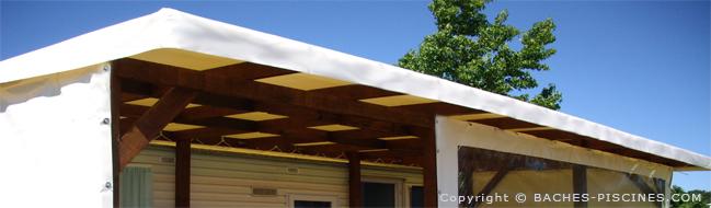 Bâche rectangle sur mesure pour terrasse