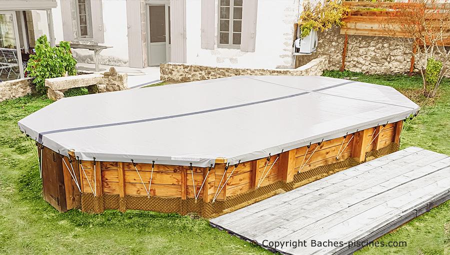 Couverture piscine bois hors sol
