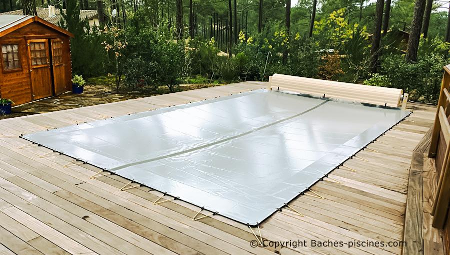Couverture d'hivernage de piscine