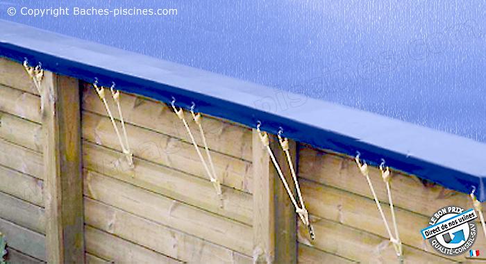 Couverture hiver  filet piscine HORS SOL