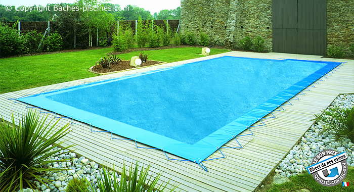 Bache hiver filet couverture filet bache de piscine hiver filet anti pollution - Taille standard piscine ...