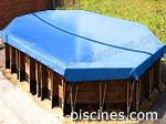 Coloris bache bleue piscine hors sol