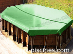 Coloris bache VERT piscine hors sol