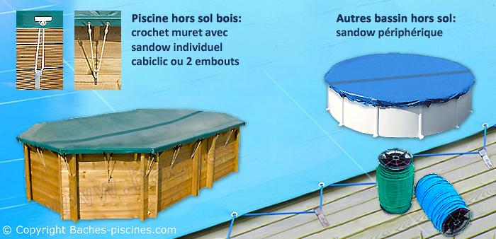 bache piscine hiver couleur