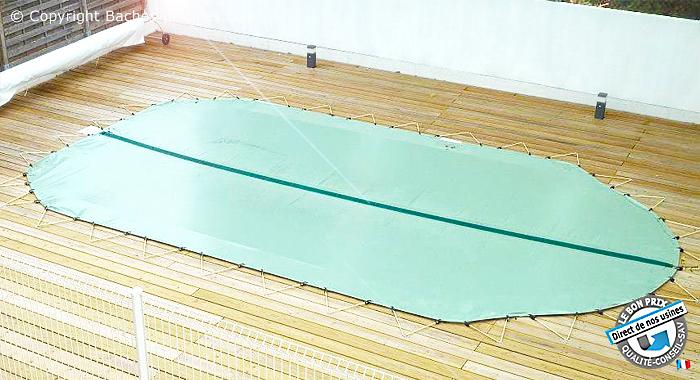 bache hiver piscine