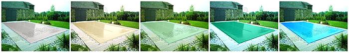COUVERTURE piscine hiver couleur