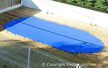Couverture piscine hiver