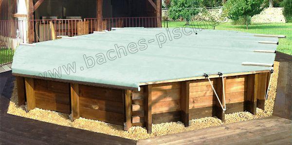 couverture bassin bois octogonal
