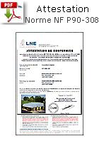 Norme LNE sécurité couverture piscine Hors sol