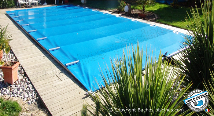 Couverture de piscine a barres 4 saisons la s curit for Bache de securite pour piscine