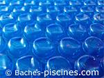 couverture à bulles bleu 400 microns