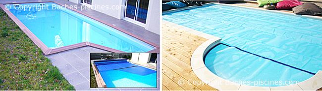 Positionnement escalier bâche piscine