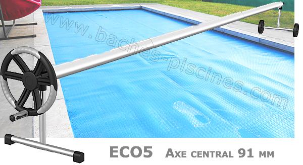 Enrouleur bâche piscine Eco5