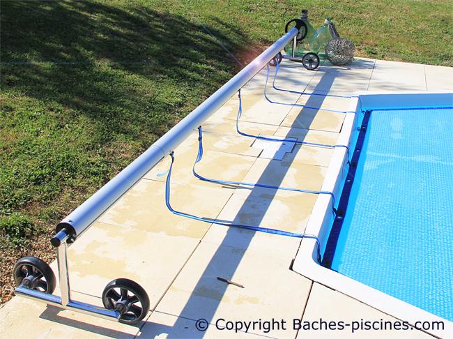 Enrouleur piscine réglable