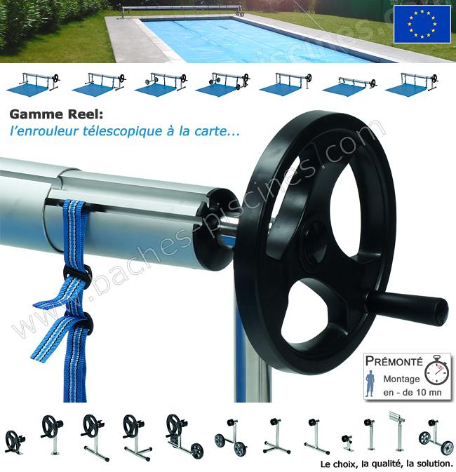 Enrouleur piscine bâche d'été