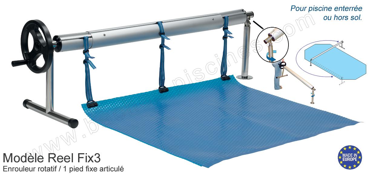 Enrouleur baches bulles de 4 5m for Enrouleur piscine enterree