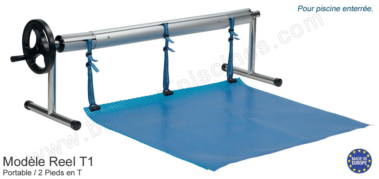 Enrouleur baches bulles de 3 4m for Enrouleur piscine