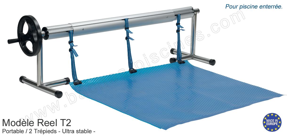 enrouleur couverture piscine 7m large