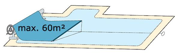 Enrouleur couverture piscine 7m large for Construire son enrouleur bache piscine