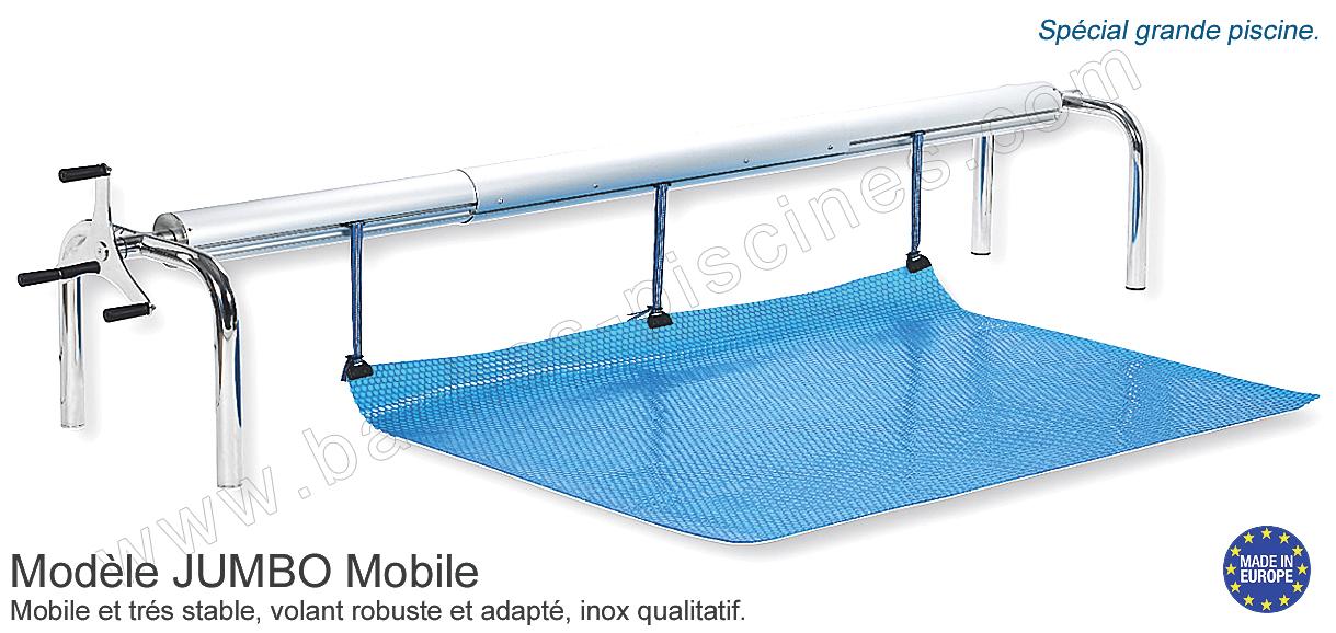 Enrouleur special grande piscine for Pied pour enrouleur bache piscine