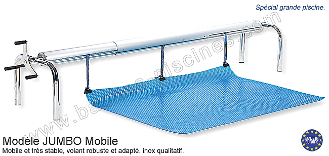 Enrouleur special grande piscine for Enrouleur piscine enterree