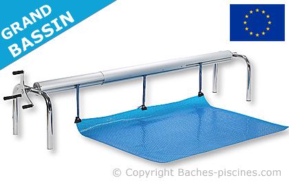 Enrouleurs t l scopiques pour vos baches de piscine for Bache pour bassin grande taille