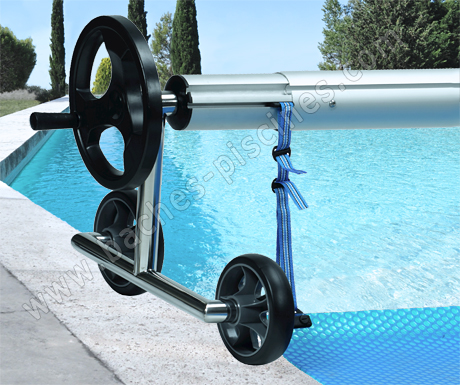Enrouleur baches bulles de 4 5m for Sangle enrouleur piscine