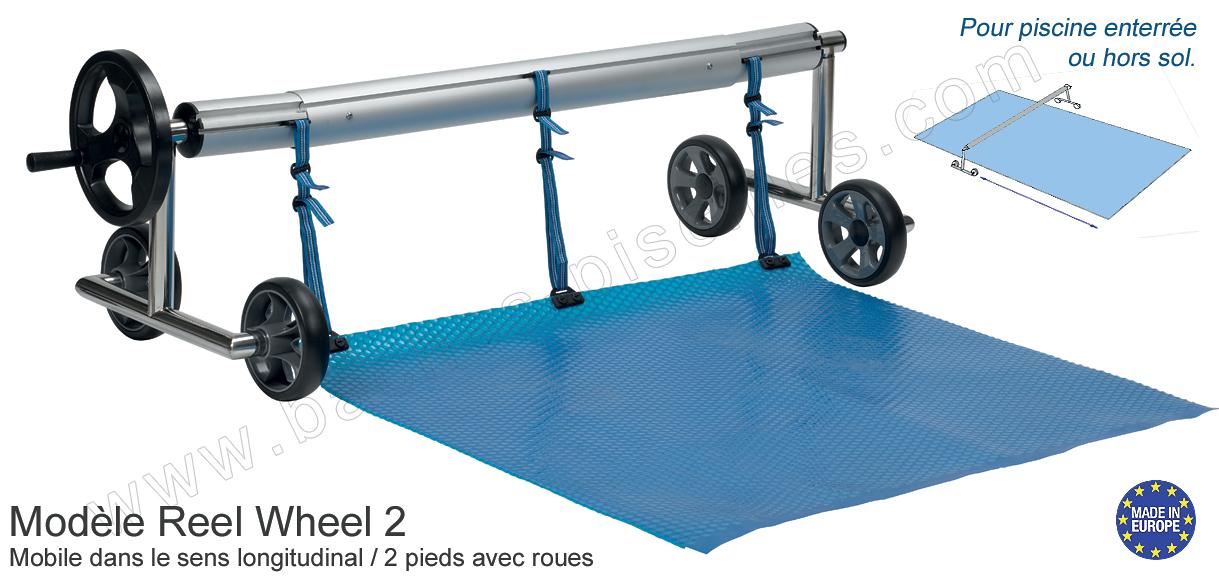 Enrouleur baches bulles de 3 4m for Enrouleur bache piscine hors sol sur pied