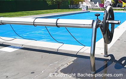 enrouleur pour bache bulle piscine