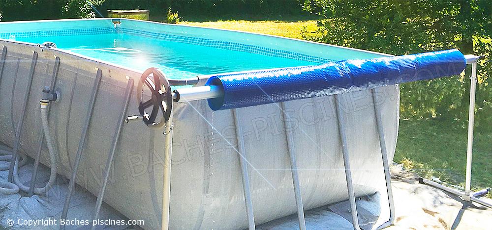 Enrouleur couverture été piscine hor sol