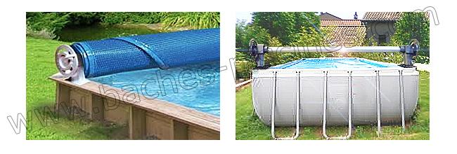 Enrouleurs de piscine hors sols discount baches for Piscine hors sol bois garantie 15 ans