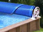 Enrouleur piscine bois