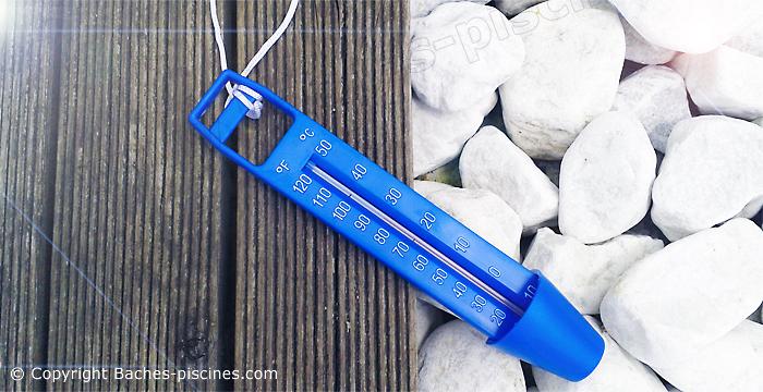Thermomètres piscine bleu flottant avec ficelle