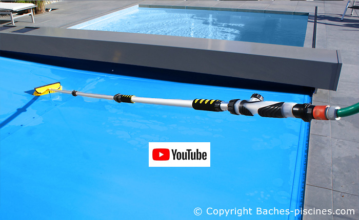 Nettoyage hydraulique pour couverture piscine