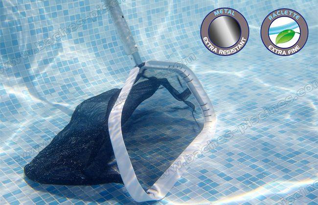 nettoyage piscine epuisette fond