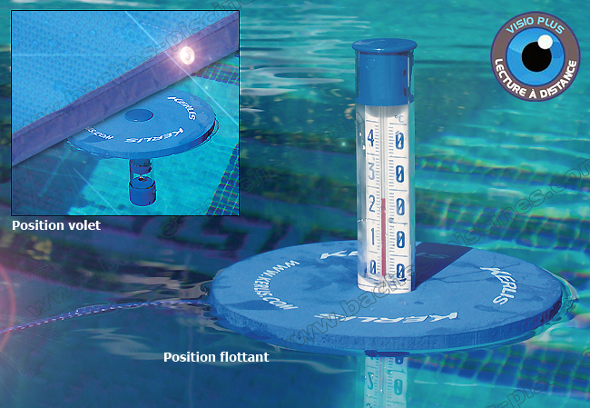 Thermom tre duo sp cial volet flottant for Thermometre piscine flottant