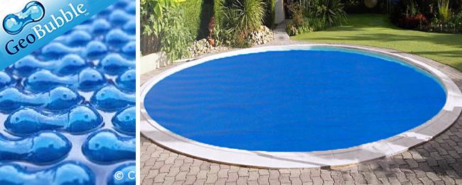 couverture piscine ronde bleue
