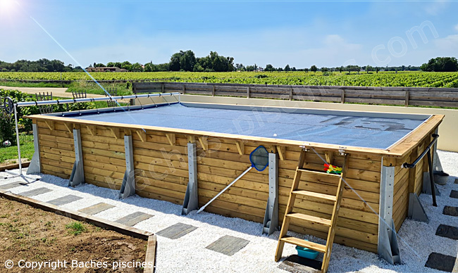 Bâche piscine a bulle Geobubble energyguard anti algues