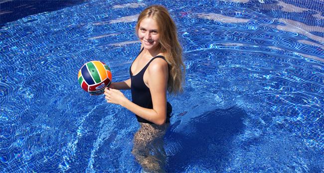 ballon de volley piscine en néoprène