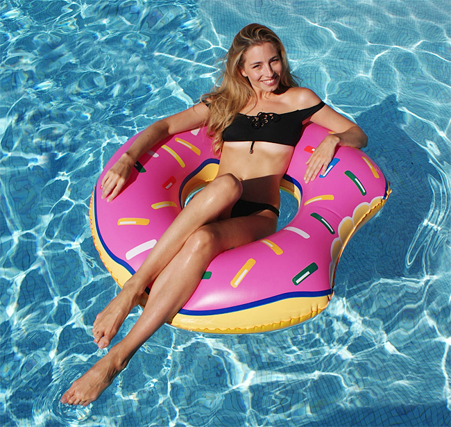 donuts siege gonflable piscine