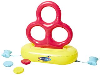 jeu piscine freesbee