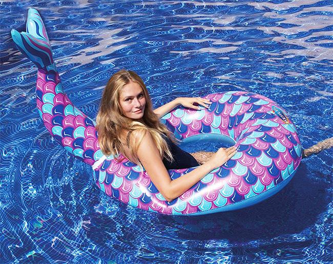 Bouée sirène piscine gonflable