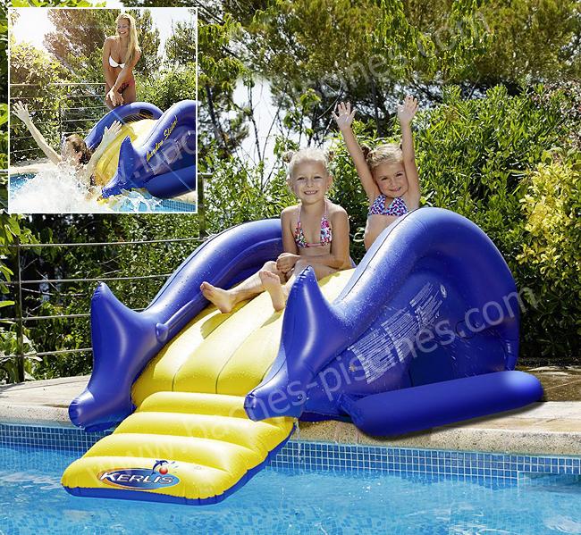 Jeux piscine toboggan enfant for Piscine avec toboggan gonflable