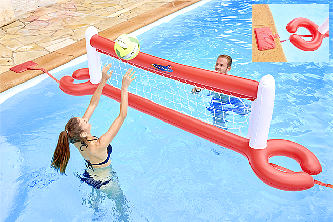 Volley ball gonflable et flottant pour piscine for Piscine a balle gonflable