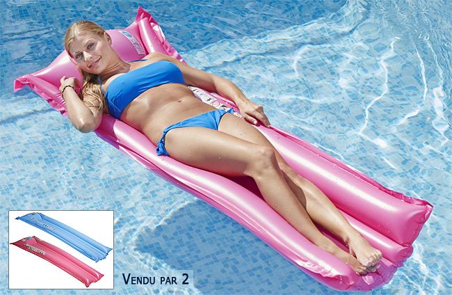 matelas gonflable piscine 2 couleurs