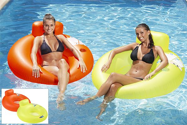 Hamac gonflable piscine 2 couleurs