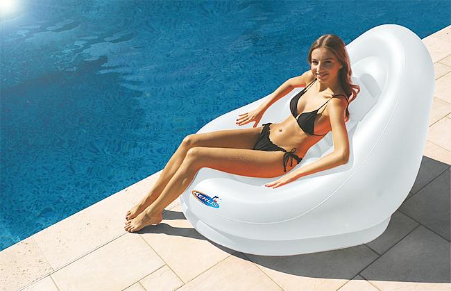 Matelas piscine siege cocoon blanc