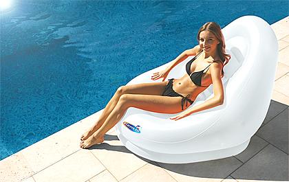Siège coccon blanc piscine marque kerlis