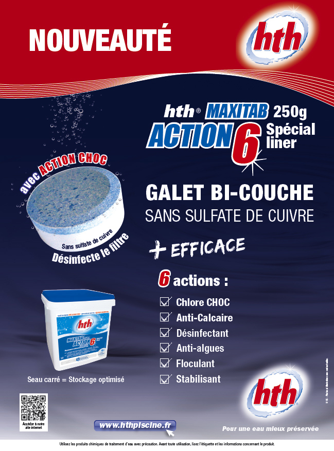 Action 6 chore piscine sp cial line for Produit piscine hth