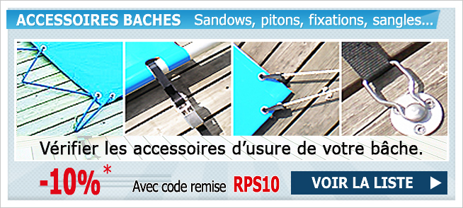 Fixations baches piscines